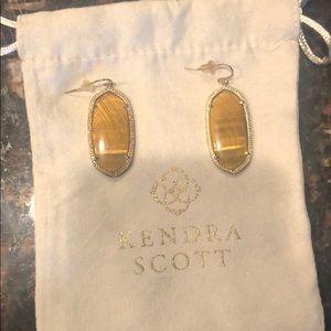 Kendra Scott tigereye drop earrings